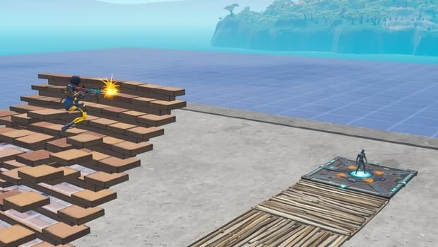 Shooting your own ramp because you are positioned too low