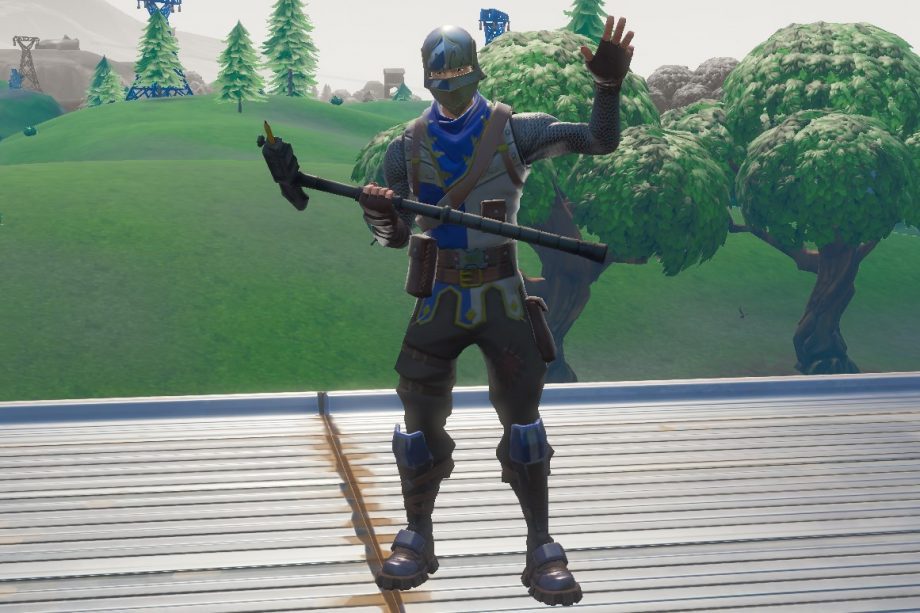Fortnite Blue Squire skin from Season 2 Battle Pass