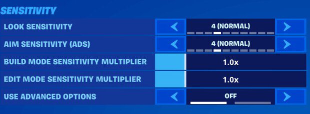 Fortnite new basic sensitivity for controller players
