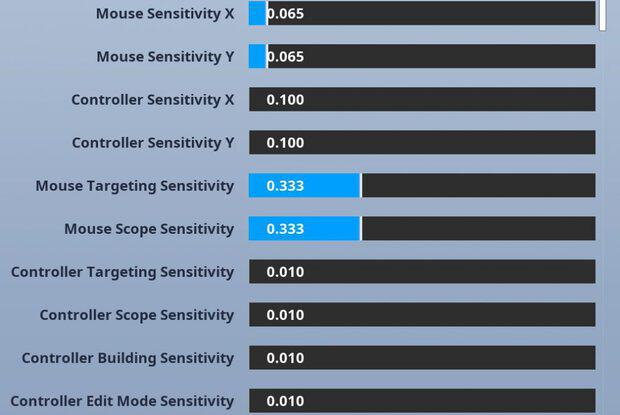 Fortnite sensitivity