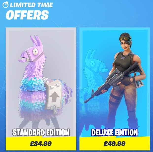 Fortnite Save the World prices screen