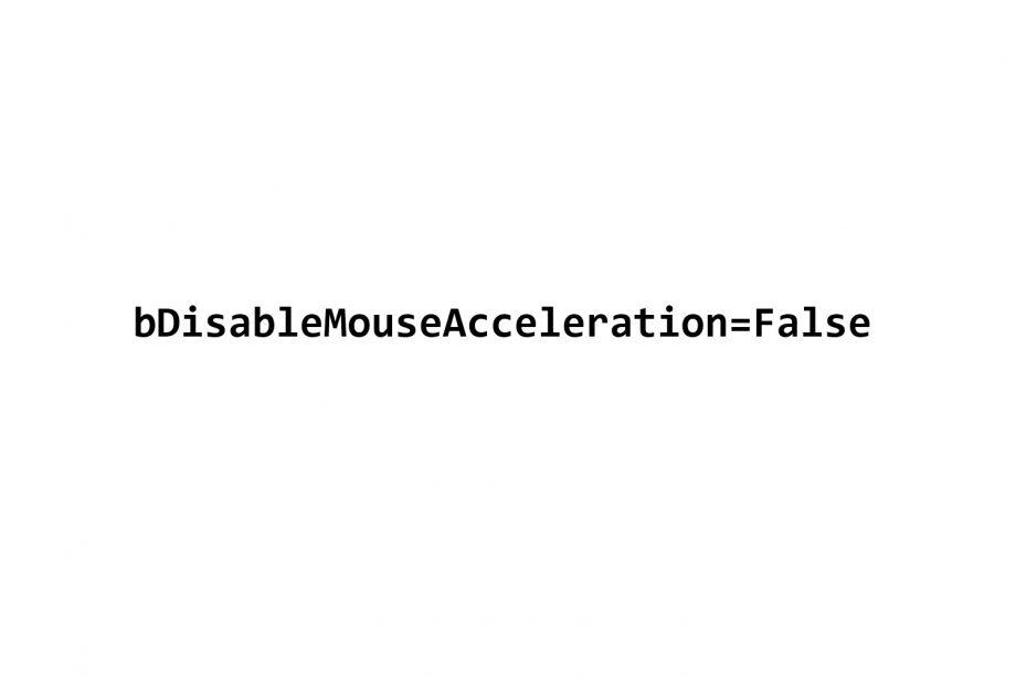 bDisableMouseAcceleration=False