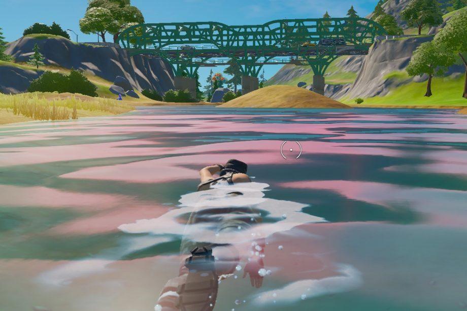 Swimming in Fortnite