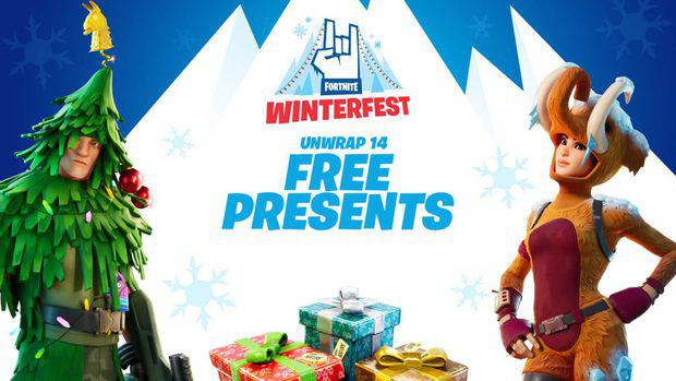 Fortnite Winterfest Announcement featuring the possible skins