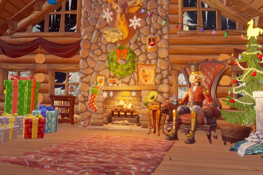 Fortnite winterfest lodge