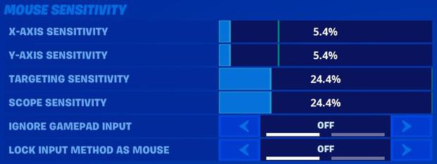 Mongraal Fortnite mouse sensitivity