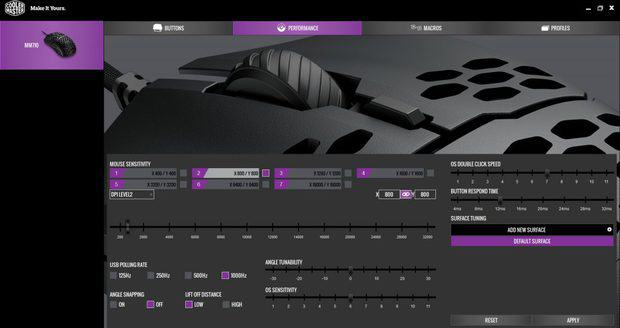 Cooler Master MasterPlus software for MM710 mouse