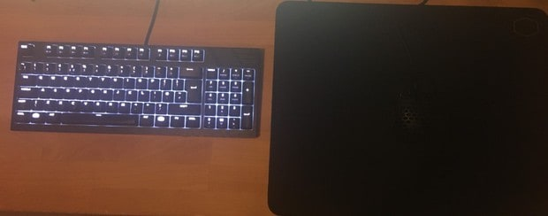 My all Cooler Master set up with MM710 mouse, MasterKeys keyboard and MP510 mouse pad