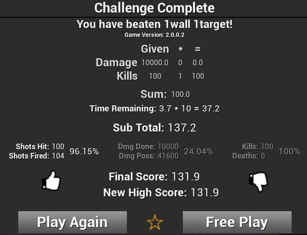 New high score in Kovaak's FPS Aim Trainer for 1wall 1target