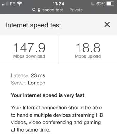 My internet speed test when using a wireless connection gets 23 ms ping