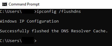 Clearing the DNS Resolver Cache using Command Prompt