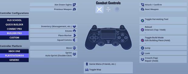 Fortnite builder pro controller configuration