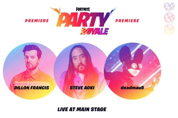 Party Royale Premiere with Dillon Francis, Steve Aoki, and Deadmau5