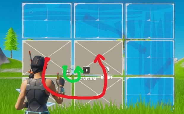 Small crosshair movement when editing in Fortnite