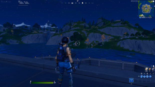 Fortnite visuals in Chapter 2 Season 3 with 100% brightness and deuteranope 10