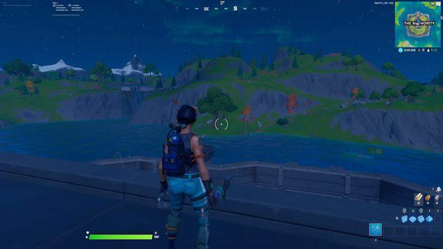 Fortnite in the night time with brightness set to 130%