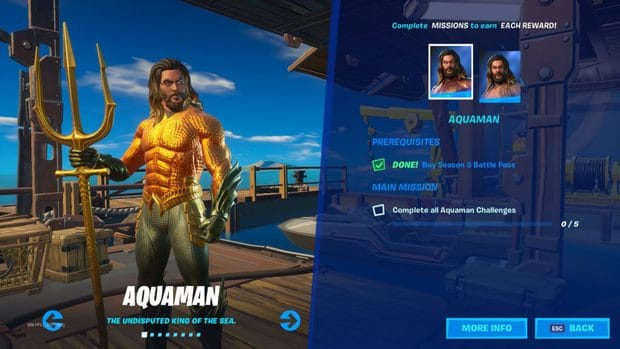 Fortnite Chapter 2 Season 3 Aquaman skin