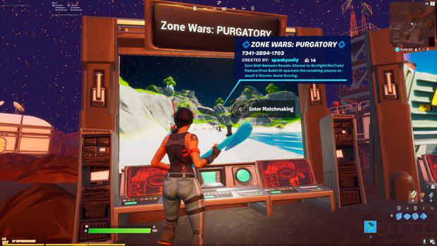 Enter matchmaking for zone wars