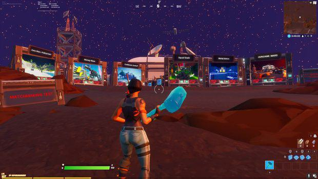 Matchmaking test games to the south of the Fortnite Creative Hub