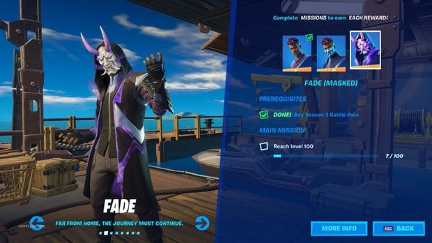 Fortnite Chapter 2 Season 3 style challenges for Fade